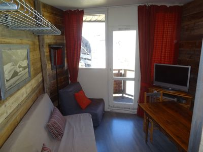 Photo for nice warm and well equipped studio, 6 people, quiet, ski-in ski out