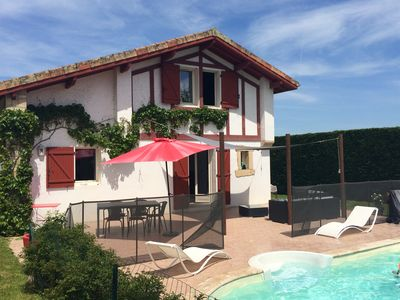 Photo for CHARMING VILLA WITH POOL ON COTE BASQUE