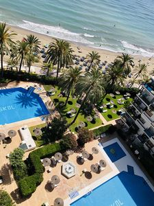Photo for 3 pools First Line beach Central Marbella