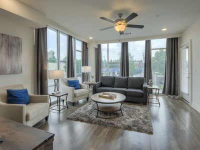 Photo for Luxurious East Dowtown corner unit-Wall of Windows 2bed 2 bath Condo- #215