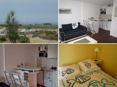 Photo for Apartment 2 people on a residence with pool on the sea front of Lacanau Ocean