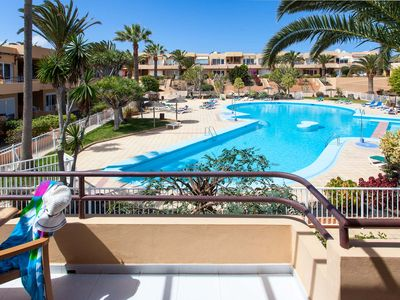 Photo for Apartment Kalma 4 300mtrs from the beach with Pool, WIFI, Satellite TV.