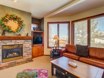 Photo for Ski-in/ski-out condo with mountain views and use of a shared hot tub