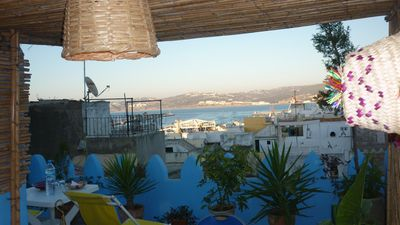Photo for Wonderful large 3 bed town house with stunning roof terrace + sea view in Kasbah