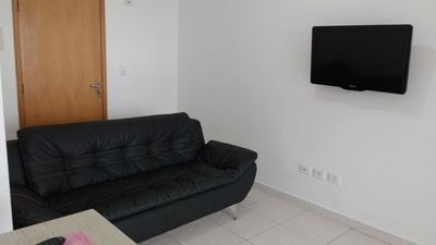Photo for (11) 98092-2872 P. Grande-1dorm., 6 people-150m from the beach- WI-FI, Barbecue
