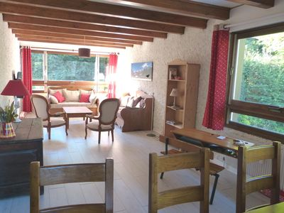 Photo for Apartment 93 m2, quiet, close to slopes, Mt Blanc massif view, St Gervais