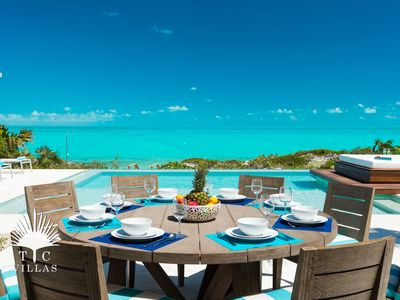 Photo for Stunning Turquoise Views at Aguaribay Beachfront 5BR Villa on Long Bay