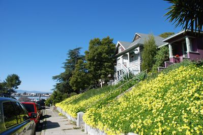 Waterfront Historic Bungalows walk to San Francisco Ferry and amenities