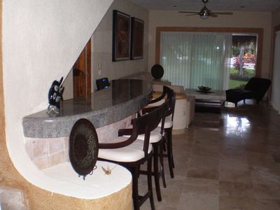 Bar and living Room