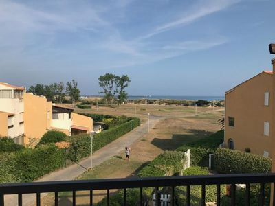 Photo for Résidence AquaPlage T2 1st line sea view, beach Richelieu, swimming pool
