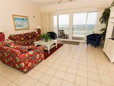 Photo for Bright 5th Floor Ocean Front Unit With Splendid Gulf Coast Views And Tropical Furnishings