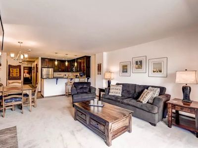 Photo for Deluxe Condo with Fireplace, Balcony, and Modern Kitchen | Located Near the Gondola!