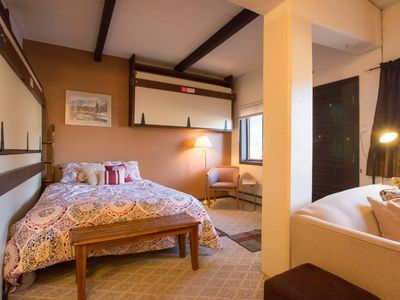 Photo for Slopeside Condo at Sunlight Mountain Resort - Large Studio. 1 Queen Bed, 1 Double Sofa Bed, 2 Twin M