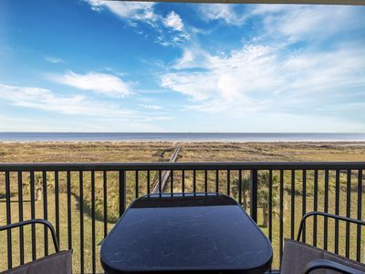 Photo for This condo is on the beach! Spectacular views of the Gulf!