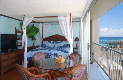 Photo for Ocean View Studio - Polu Hale - 2 min Walk from Beach