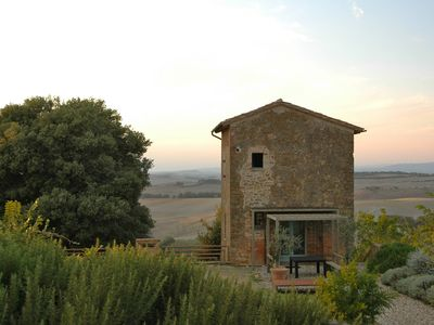 Photo for Hilltop house in the heart of Tuscany with private pool