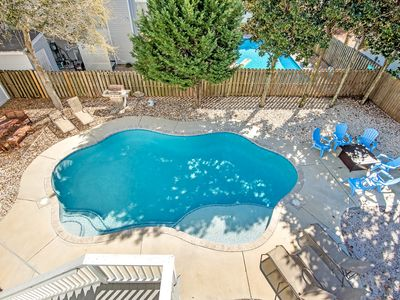 Photo for 6 BR/4BA - Private Pool/FirePit/Yard - 1 Block to Beach