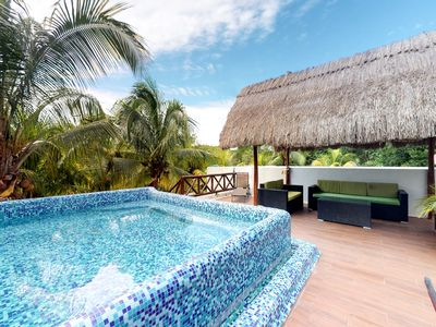 Photo for Dog-friendly home w/ rooftop pool, terrace & jungle view - 500 feet to beach!