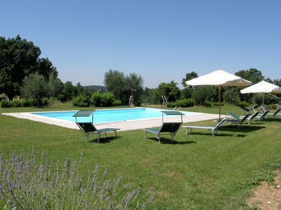Photo for Apartment in an organic agriturismo with sheep, pool, quiet location