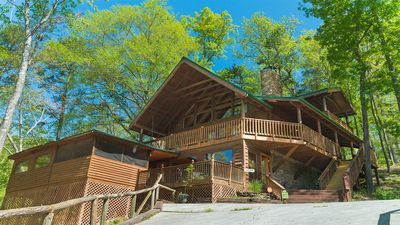 Photo for Real log cabin at the foot of the Smoky Mountains
