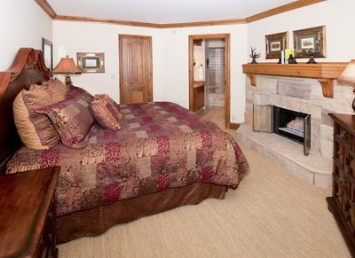 Master Suite w/real wood-burning fireplace