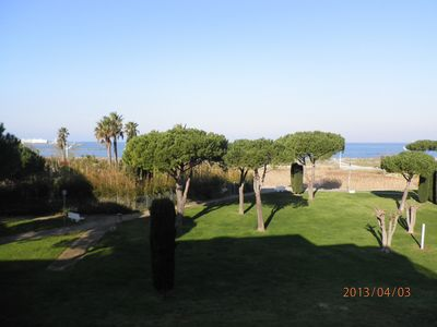 Photo for Facing the sea, superb apartment P3 with its large terrace (1st line)