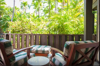 Sit on the lanai in privacy and enjoy the chirping birds