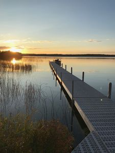 Photo for Large 3BR Sunset Lakefront Cabin w/ Private Launch and Dock
