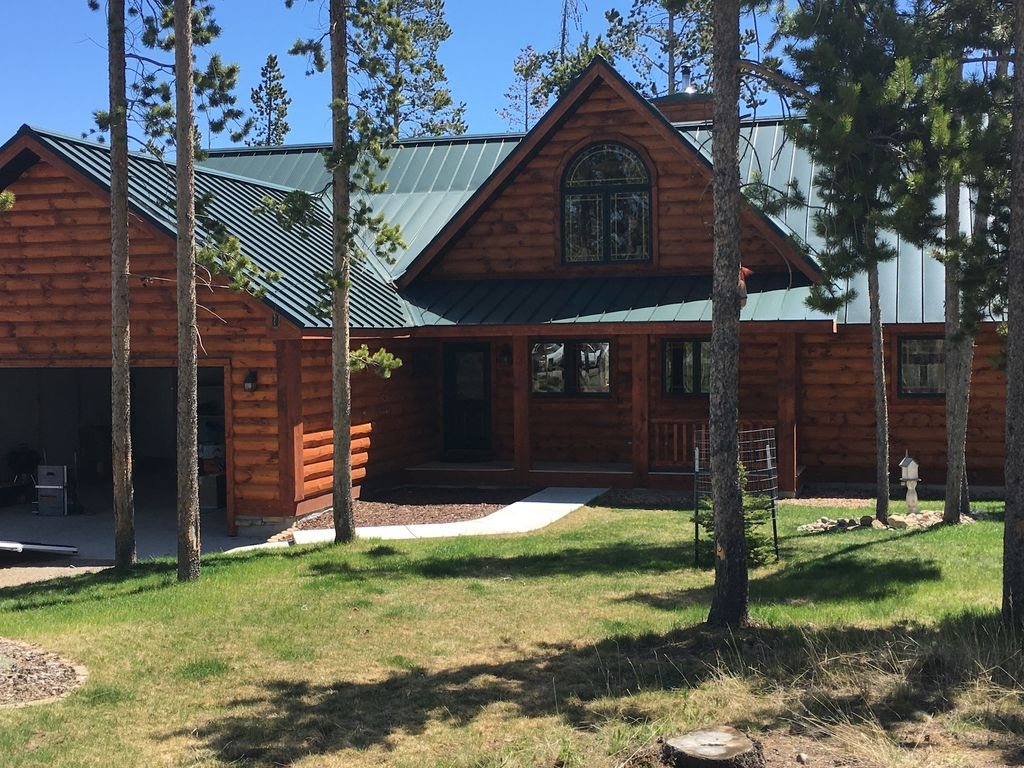 Beautiful Log Home Atop Wind River Mtns Ne Homeaway