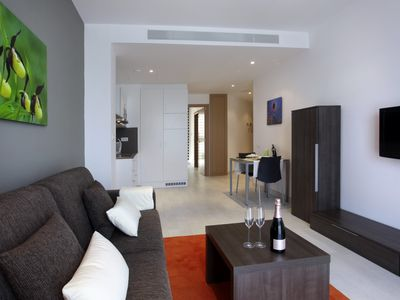 Photo for 1 bedroom apartment for 4 people with sofa bed, near Camp Nou 3º3º