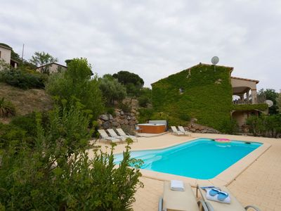 Photo for Spacious luxury villa with heated swimming pool, Jacuzzi, stunning views and plenty of privacy