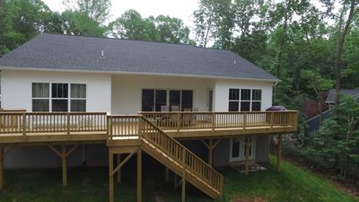 Photo for Leys Lake 1 Brand New Waterfront home with perfect sunsets. Deep Water Dock