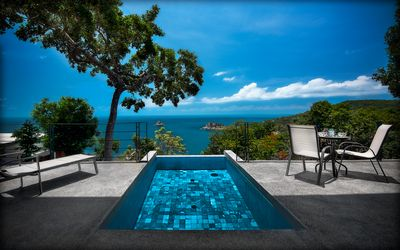 Photo for The Philip's villa 3 on the seafront with infinity pool.