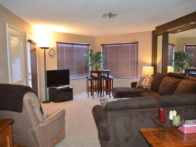Photo for Ski in Ski Out, Seven Springs, 1 BR, 1 Bath, Balcony, on Slopes, Clean.