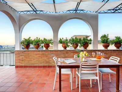 Photo for Skyline Sorrento - Top Floor Apartment with Views in the heart of Sorrento