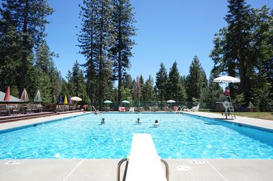 Complimentary access to the pool at Big Trees Village Rec Center in summer!