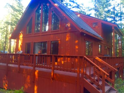 Photo for Tahoe area Cabin, Pet Friendly, 3 miles to Sugar Bowl, On x-country ski trail