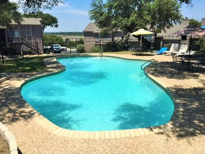 Photo for Winter Texans Special! Ground level 2/2 condo a short walk to Canyon Lake!
