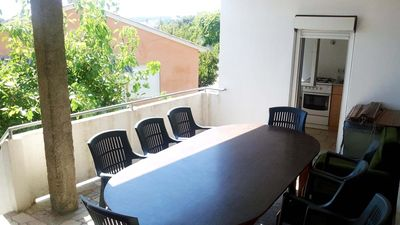 Photo for Two bedroom apartment with terrace and sea view Palit, Rab (A-5031-a)