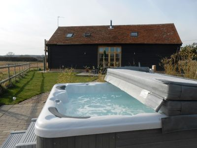 Hot tub for guests at the Shire Stables.  Towels supplied.