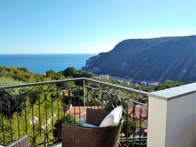Photo for You can have breakfast on the terrace, spacious apartment with sea view.