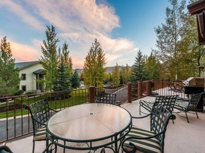 Photo for Western Flare and Vaulted Ceiling, Spacious Deck for Dining wi/ Ski Slope Views, Hot Tub, Sleeps 15!