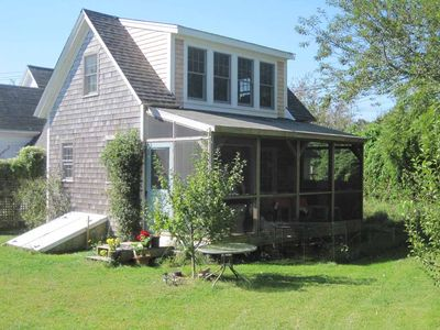Photo for Beautiful North Truro Cottage with screen porch, gardens, and walk to the beach