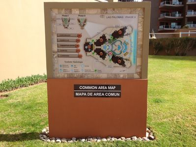 Common area maps conveniently placed to ease your traveling about.