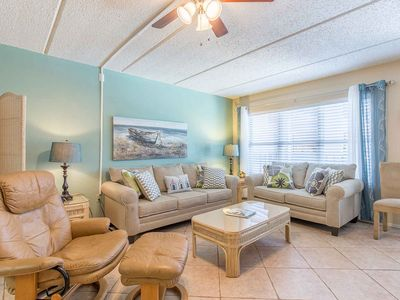 Photo for Beach View 207 - Beautiful Condo, Tropical Landscaping, Pool and Hot Tub, Across the Street From the Beach