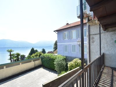 Photo for In the center of Oggebbio, a few steps from the lake, with a beautiful view