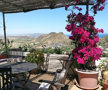 Photo for Mojacar, wonderful views of the sea and the valley from the entire house. Great terrace.