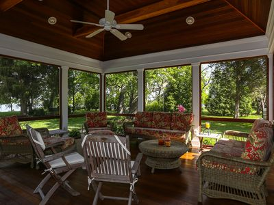 Photo for Large Waterfront Home 2 miles from town: 5 & 6 night summer rentals available!