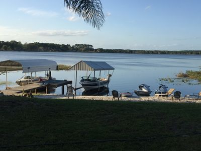 Photo for Quiet Rural Lakefront Home ~ 90 Ft. Private Shoreline ~ Canoe And Kayak Included