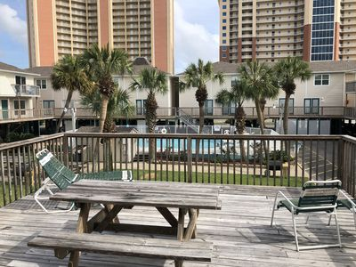 Photo for 2BR Condo w/ large deck. Walking distance to beach, great restaurants and bars.
